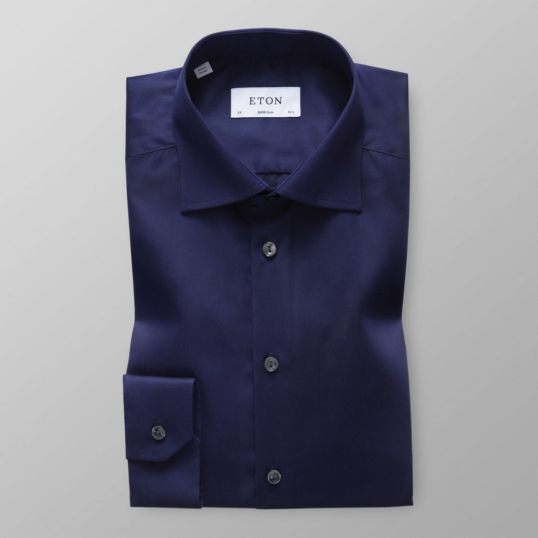Navy Twill Shirt Super Slim Fit