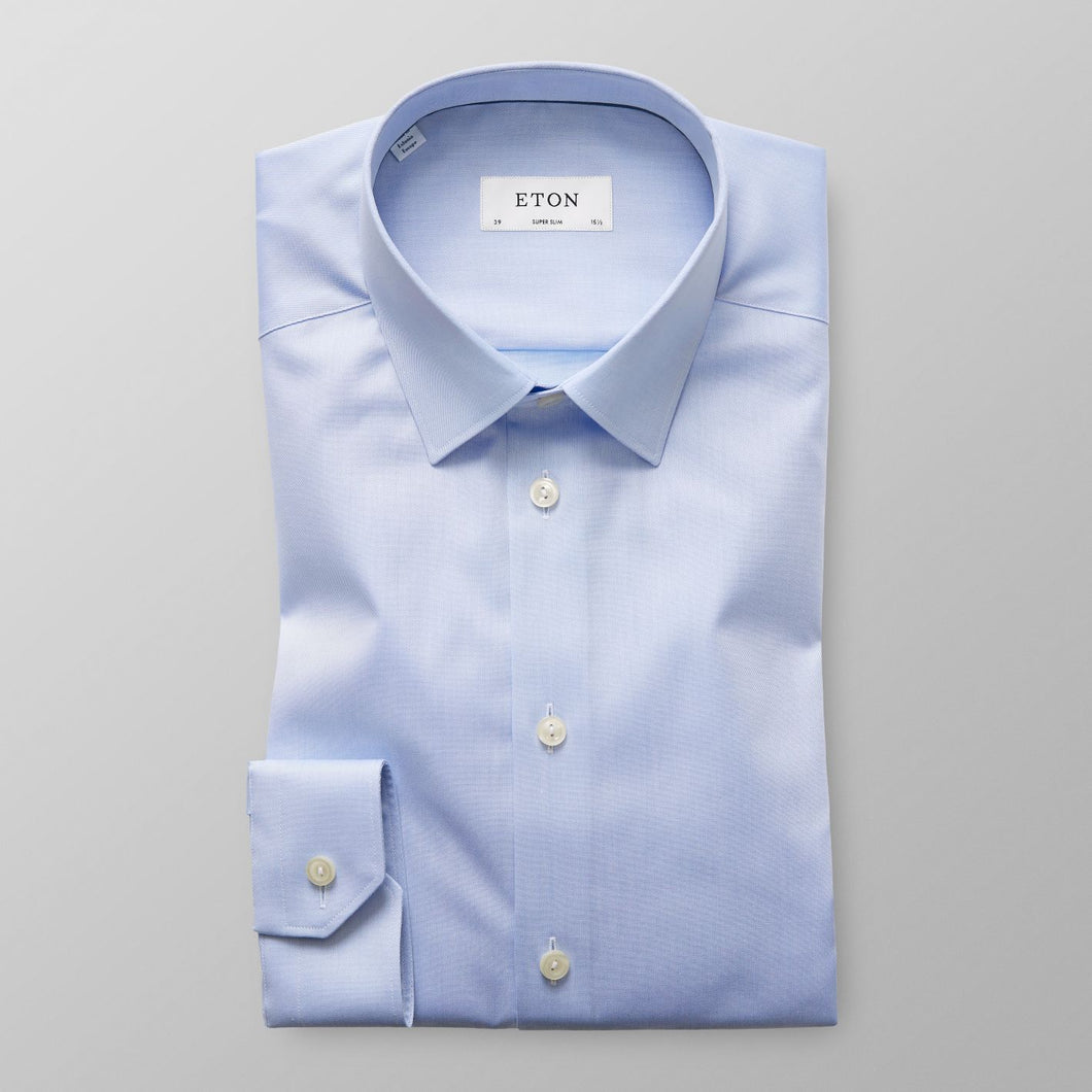 Light Blue Point Collar Shirt Super Slim Fit