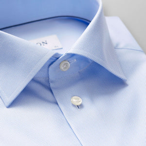 Light Blue Textured Twill Shirt Contemporary Fit