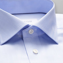 Load image into Gallery viewer, Sky Blue Herringbone Twill Shirt Classic Fit
