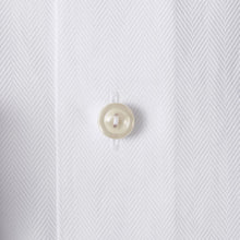 Load image into Gallery viewer, White Herringbone Twill Shirt Slim Fit