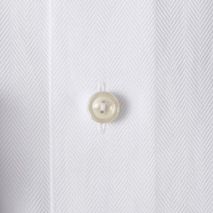 White Herringbone Twill Shirt Slim Fit