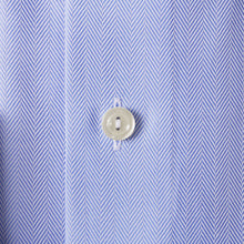 Load image into Gallery viewer, Sky Blue Herringbone Twill Shirt Contemporary Fit