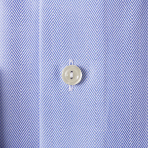 Sky Blue Herringbone Twill Shirt Contemporary Fit