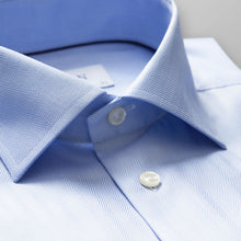 Load image into Gallery viewer, French Cuff Sky Blue Herringbone Twill Shirt Slim Fit