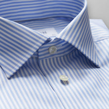 Load image into Gallery viewer, French Cuff Sky Blue Striped Twill Shirt Classic Fit
