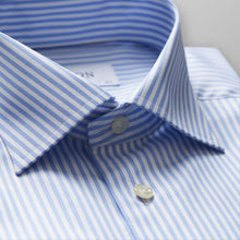 Load image into Gallery viewer, French Cuff Sky Blue Striped Twill Shirt Slim Fit