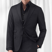 Load image into Gallery viewer, Black Twill Shirt Slim Fit