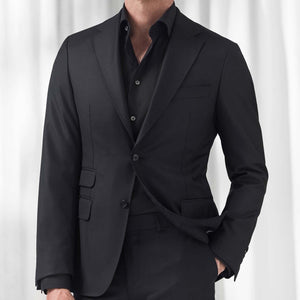 Black Twill Shirt Slim Fit