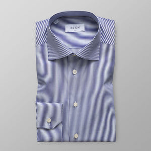 Blue Striped Stretch Shirt Super Slim Fit