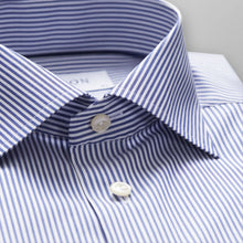 Load image into Gallery viewer, Blue Striped Stretch Shirt Super Slim Fit