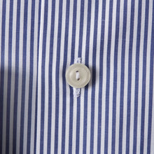 Load image into Gallery viewer, Blue Striped Stretch Shirt Contemporary Fit