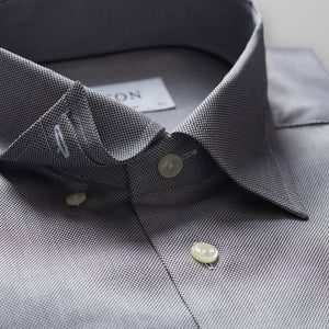 Black & White Button-Under Royal Oxford Shirt Contemporary Fit
