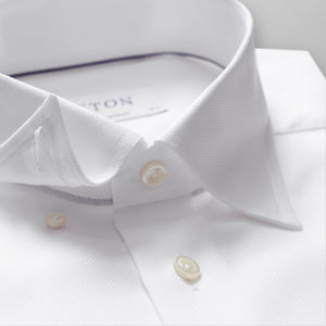 White Button-Under Royal Oxford Shirt Slim Fit