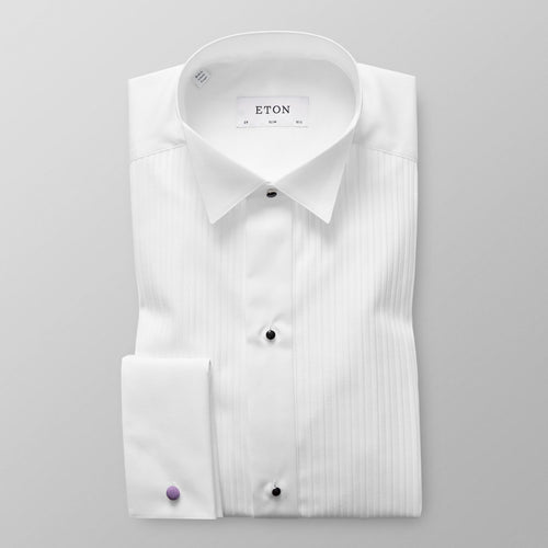 Plissé Wing Collar Evening Shirt Slim Fit