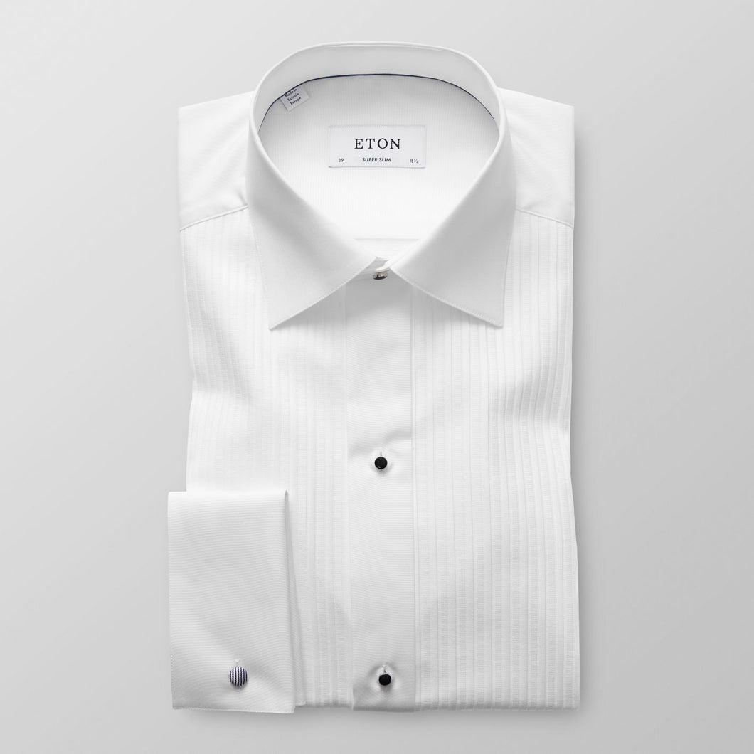 Plissé Evening Shirt Super Slim Fit