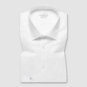 RET White Perfect Look Double Cuff Slim Fit