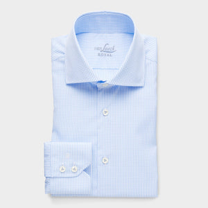 RIVARA Blue Check Slim Fit