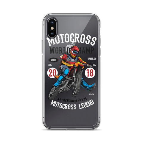 Motocross World Champ iPhone Case