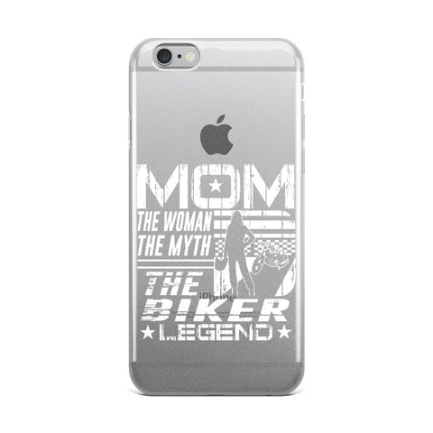 Mom Biker Legend iPhone Case
