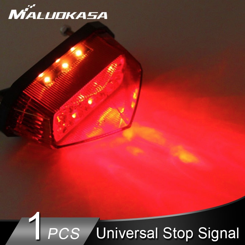 Universal Tail Light Motorcycle 10 LED Stop Signal Indicator Motorbike Blinker Turn Signals Brake Lights for Moto Accessories