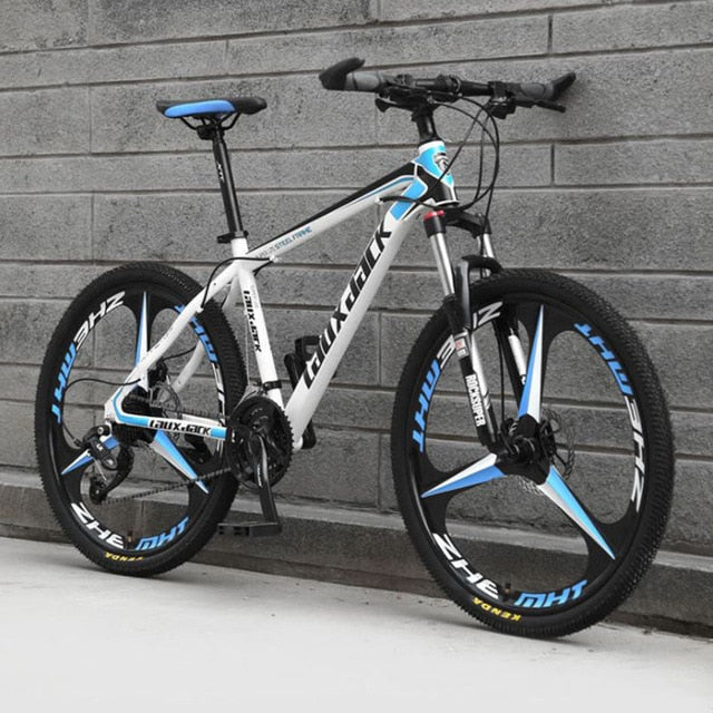 Cross Country Mountain Bike 27 and 30 Variable Speed Three-knife Men and Women Hydraulic Disc Brake Road Bicycle