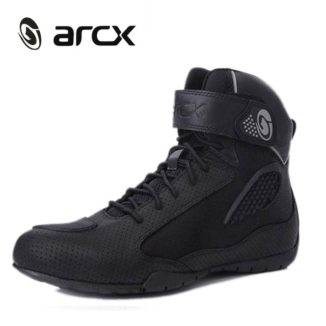 New Motorcycle Boots Men Breathable Botas Moto Boots Hombre Motorcycle Shoes Motorbike Biker Riding Boots Touring Ankle Shoes