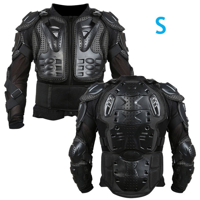 Full Body Armor Motorcycle Jacket Men Motorcross Racing Chest Gear Protective Shoulder Hand Joint S-XXXL Motorcycle Knee Pads