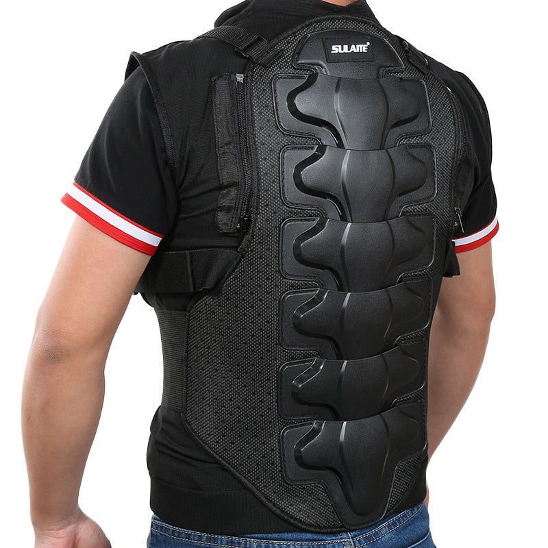 Motorcycle Armor Jacket Men Sleeveless Armor Vest Outdoor Motorcross RC Chest Protective Sport Gear Guard Motorcycle Accessories