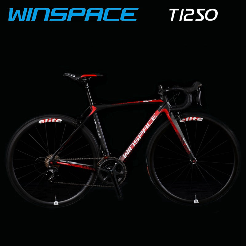 WINSPACE T1250 road bike 7.9kg, ROAD bicycle, Carbon fiber frame, carbon fiber wheel set