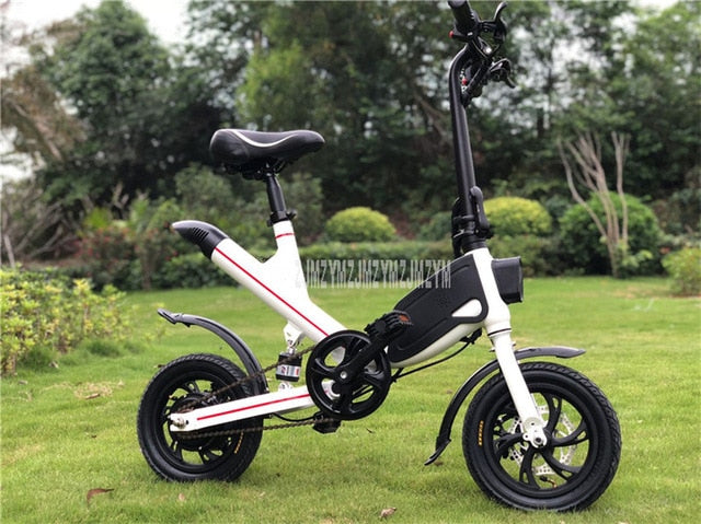 Mini Electric Bicycle 12 inch Wheel Foldable Electric Scooter Bike Instead Of Walking For Men Women Ebike Mileage 20-25km V1