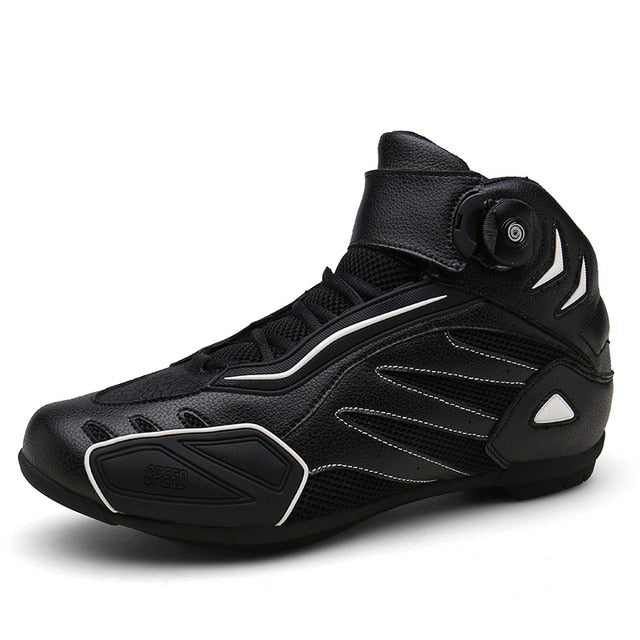 New Motorcycle Boots Motorcycle Racing Shoes Men Breathable Botas Moto Boots Motorbike Biker Riding Boots Outdoor Travel Shoes