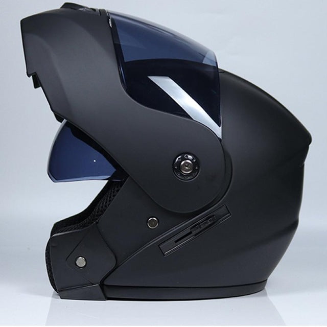 Motorcycle Helmet Double Lens Open Face Helmet Full Face Helmet Racing Helmet Running Helmet Unisex Dual-Use Helmet