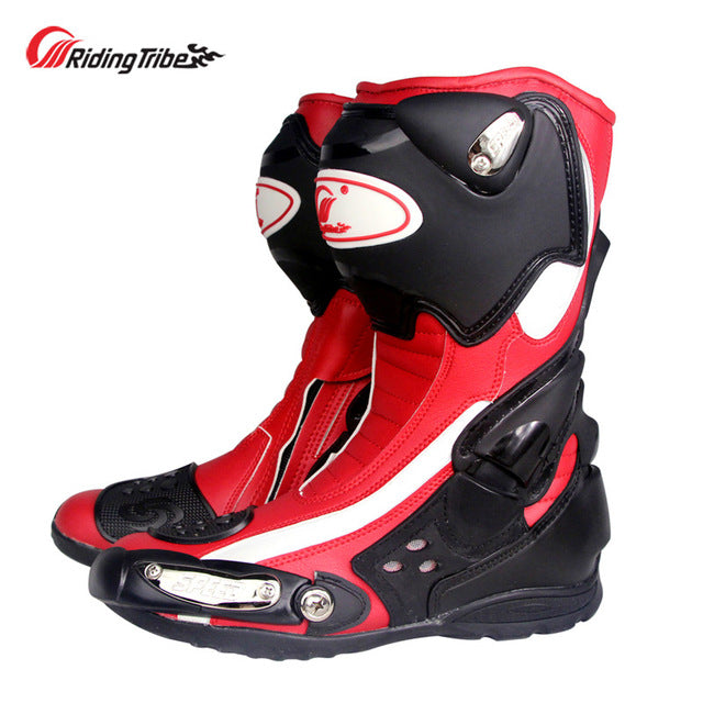 Riding Tribe Motorcycle Protective Boots Non-slip Motorbike Impact Resistent Foot Guards Moto Riding Shoes All Season B1002
