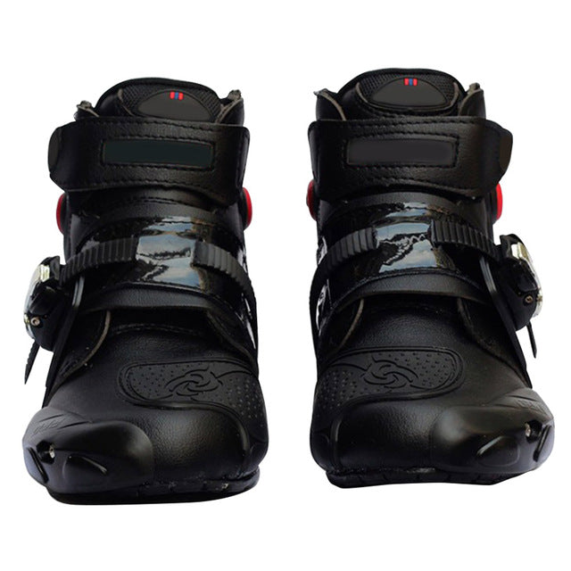 MAHAQI Motorcycle Boots Shoes Racing Speed Motorbike Shoes Moto Boot Riding Boots Ankle Men Cycling Sports Hot Sale