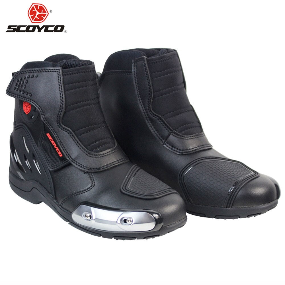 SCOYCO MR002 Motorcycle Boots Biker Motorbike Motorboats Moto Botas Riding Boot Motorcycle Men Shoes Shoe Racing Boots