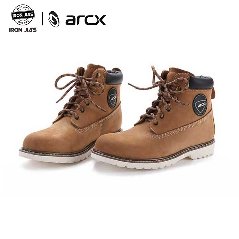 ARCX Motorcycle Boots Cow Leather Wearble Motorbike Riding Shoes Vintage Design Casual Street Racing Shoes Botas Moto