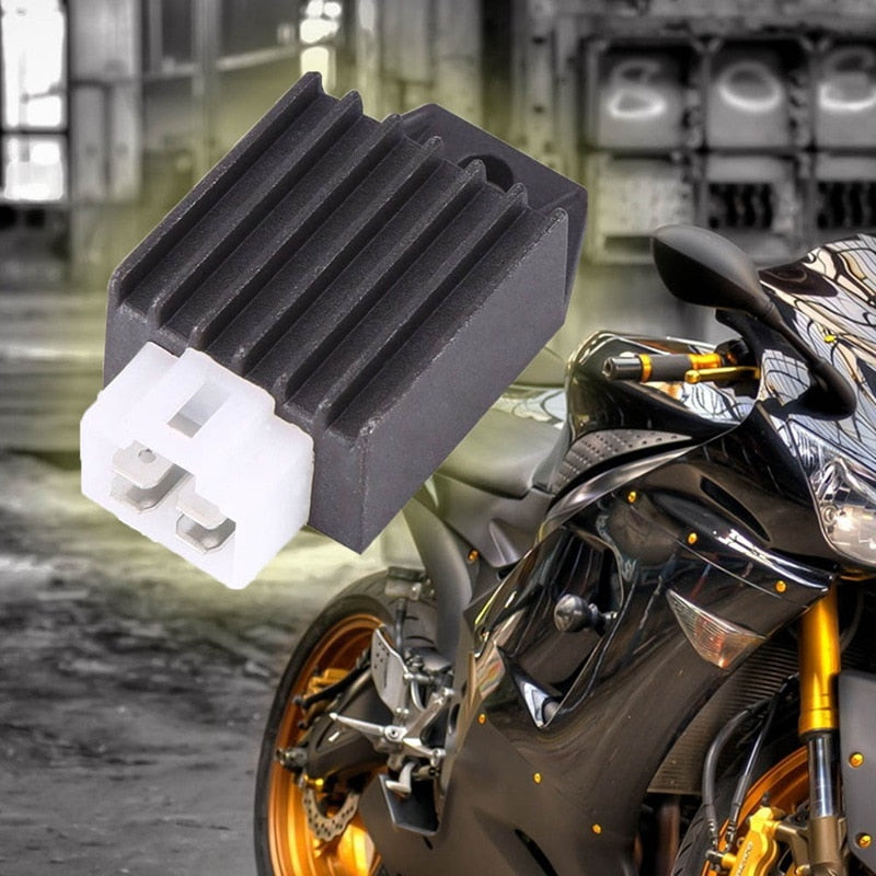 New Motorcycle Voltage Regulator Rectifier 12V 4 Pin Fits for Buggie with GY6 50cc 125cc 150cc Moped Scooter ATV Gokarts