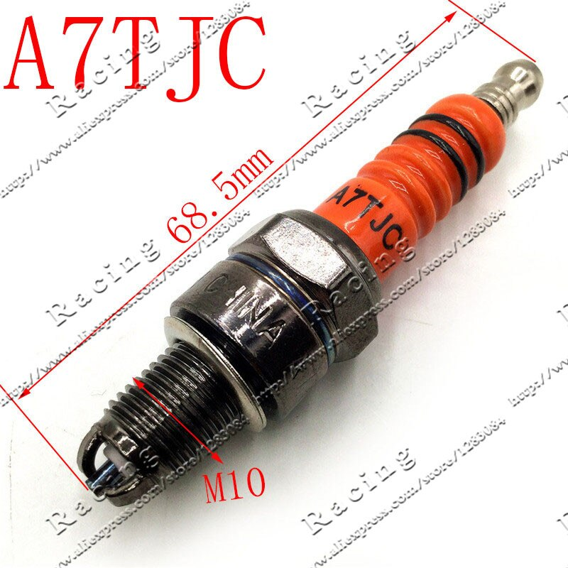 Motorcycle Spark Plug A7TJC GY6 50cc 70cc 90cc 110cc 125cc ATV 50 125 150cc Moped Scooter Three-Electrode