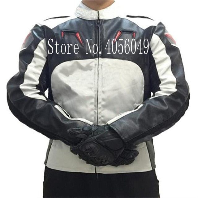 Motocycle Jacket Motocross PU Oxford A stars Ricing with Back Cowl and Protectors Jersey clothing men's cross-country winter
