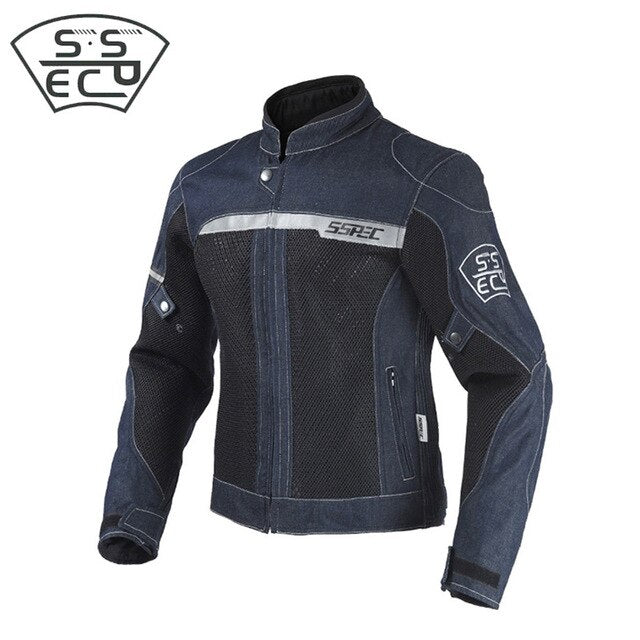 SSPEC Motorcycle jeans Jacket  Breathable summer Mesh Riding jacket Reflective motocycle racing jacket outwear jacket protective