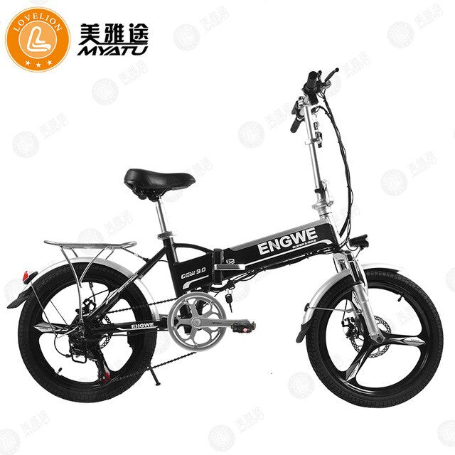 [MYATU] powerful Electric Bicycle two Wheel Electric Scooters 20inch Removable battery Portable Electric Bike Adults ebike