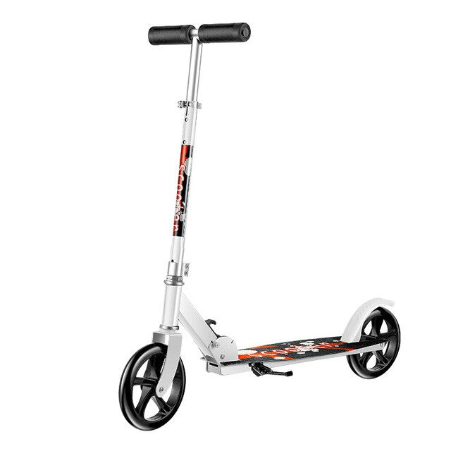 Adult scooter two-wheeled  folding city campus  Adjustable Height scooter Suitable for working(black,white)
