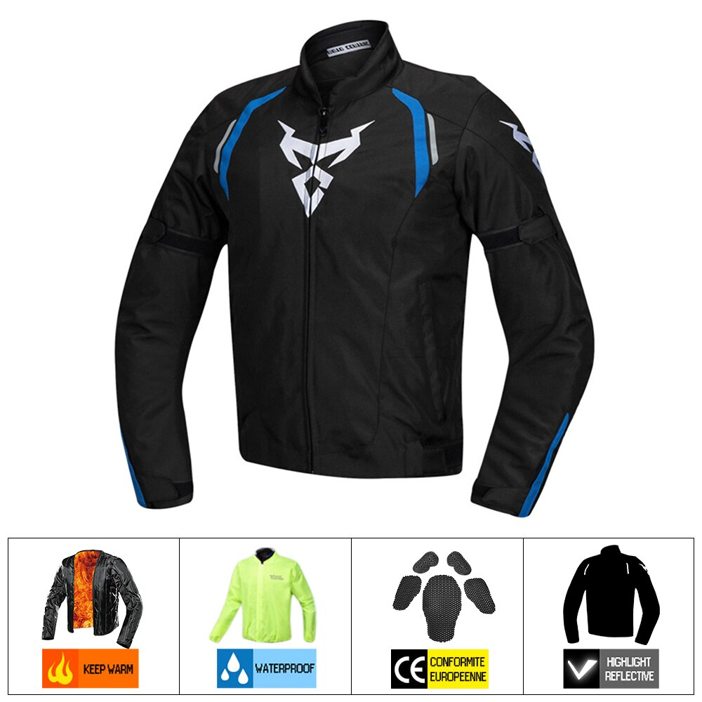 MOTOCENTRIC Motorcycle Jacket + Pants Suit Waterproof Coldproof Moto Jacket Riding Motorbike Jacket Men Motorcycle Protection#