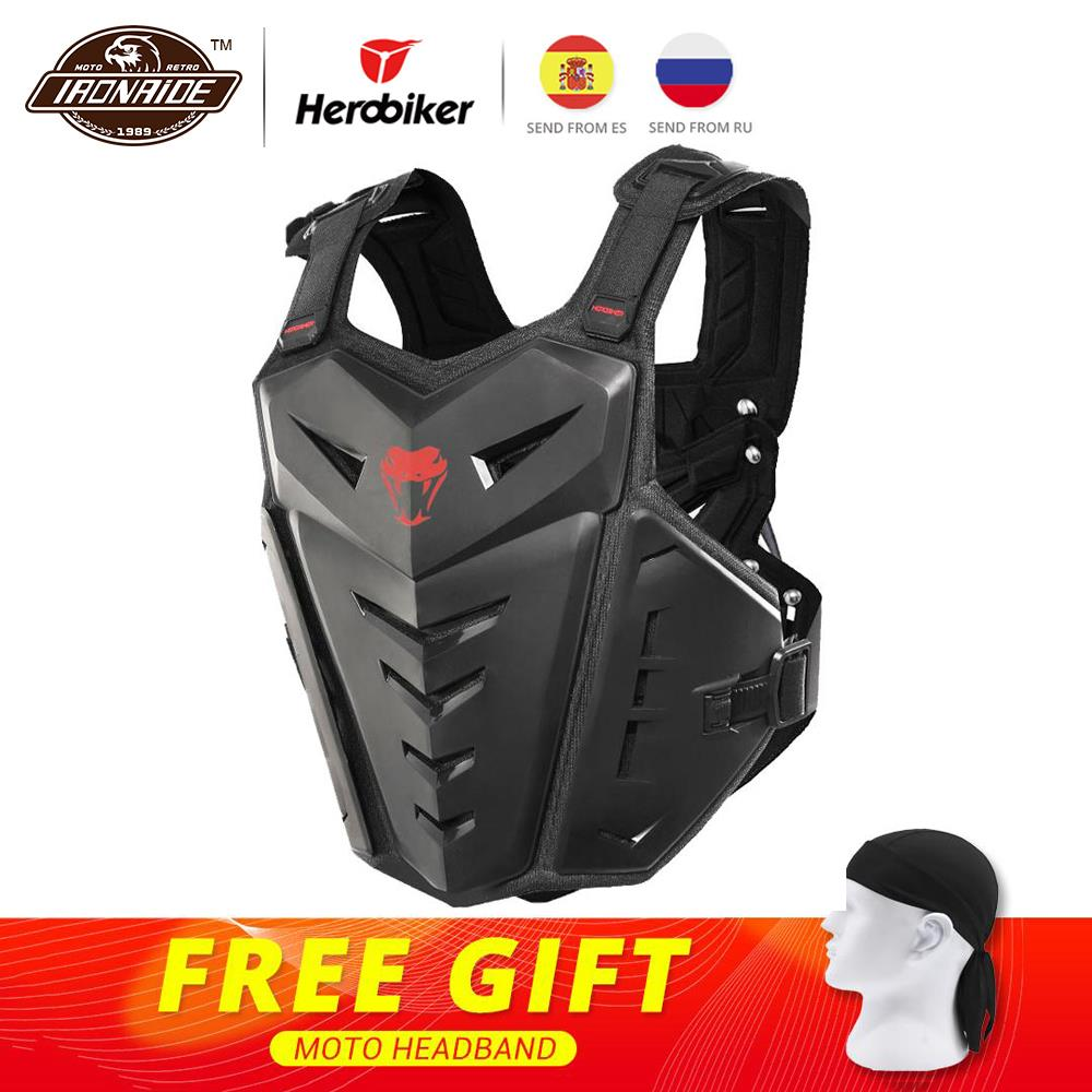 HEROBIKER Motorcycle Body Armor Motorcycle Jacket Moto Motocross Vest Off-Road Dirt Bike Protective Gear Back Chest Protector