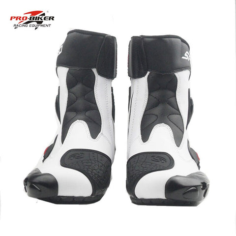 Pro-biker motorcycle boots men moto botas motocross shoes motorbike boots racing boots botas  riding motorcycles black white