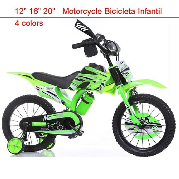 "16"" Mountain Bikes for Child Motorcycle Vocalization Kids Bike Toy Bar  Bicicleta Infantil 4 colors Buggiest Mdash Pedal Child"