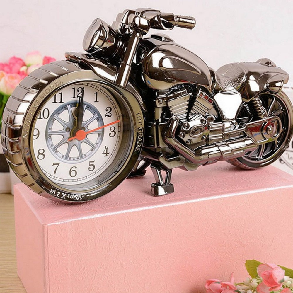 Motorcycle Creative Vintage Desktop Pocket Watches Motorbike Pattern Birthday Gift Cool Quartz watch relogio masculino