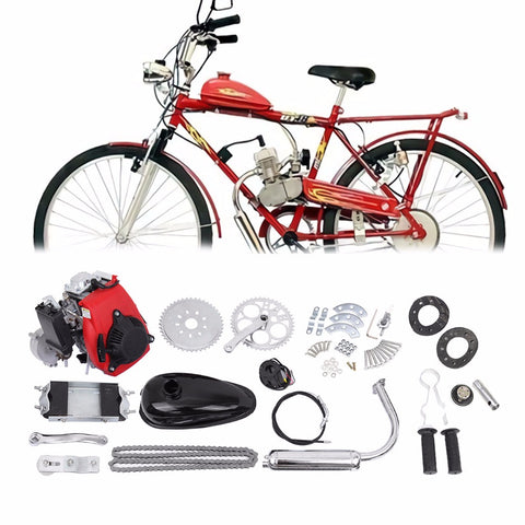 (Ship from EU) 49cc 4-Stroke Cycle Engine Motor Kit Motorized Bike Petrol Gas Bicycle Scooter