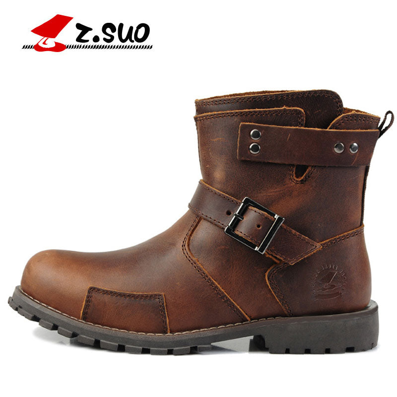 New Men's Moto England Martin Boots Genuine Leather Men Motorcycle Boots  Motorbike Motorcyclists Road moto shoes